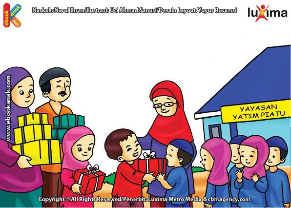 ilustrasi seri belajar islam sejak usia dini ayo belajar hadits, Allah Paling Suka Pada Rumah yang Dihuni Anak Yatim yang Dimuliakan