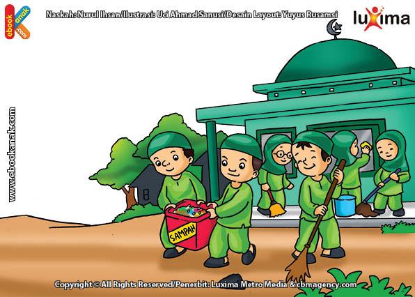 ilustrasi seri belajar islam sejak usia dini ayo belajar hadits, Inilah Cara Agar Allah Membuatkan Kita Rumah di Surga