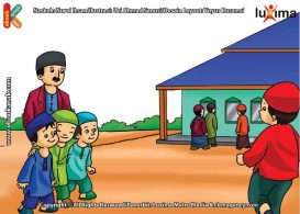 ilustrasi seri belajar islam sejak usia dini ayo belajar hadits, Inilah Cara Agar Shalat Jumat Berpahala Senilai Qurban Seekor Unta