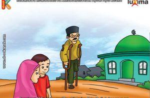 ilustrasi seri belajar islam sejak usia dini ayo belajar hadits, Kata Nabi, Allah Hanya Melihat Manusia pada Hati dan Perbuatannya