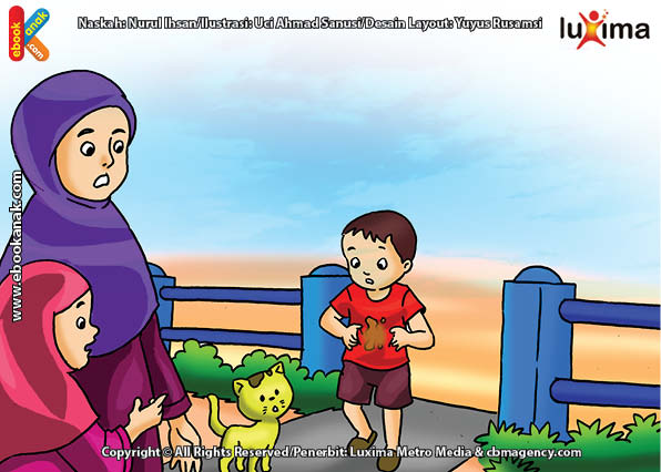 ilustrasi seri belajar islam sejak usia dini ayo belajar hadits, Kata Nabi Hendaklah Orang Muslim Memakai Pakaian yang Bersih