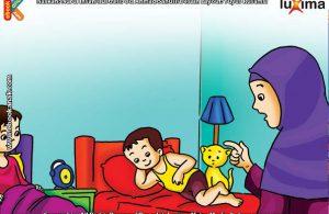 ilustrasi seri belajar islam sejak usia dini ayo belajar hadits, Kata Nabi Jangan Tidur Tanpa Memakai Pakaian