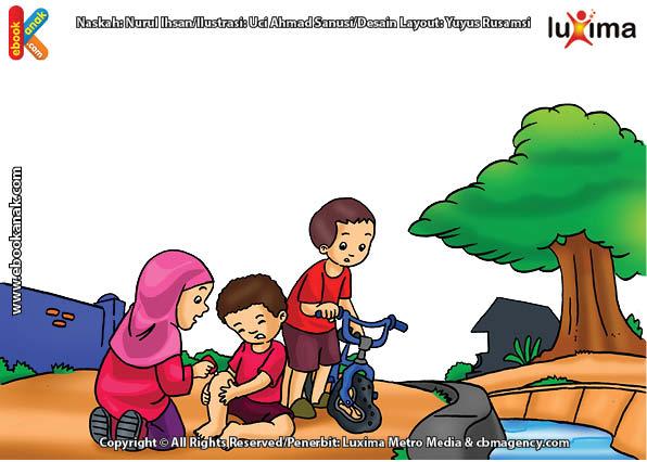 ilustrasi seri belajar islam sejak usia dini ayo belajar hadits, Kata Nabi, Setiap Muslim Wajib Bersedekah