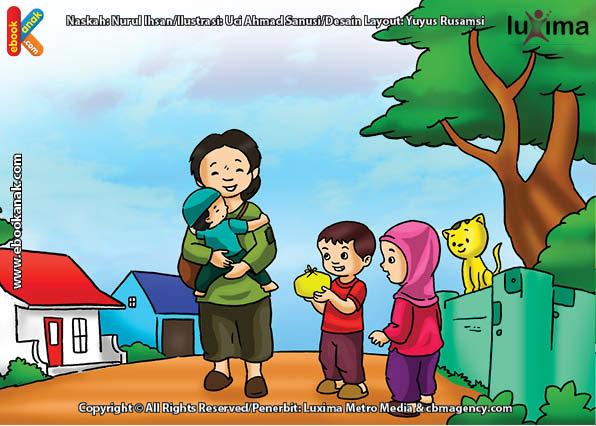 ilustrasi seri belajar islam sejak usia dini ayo belajar hadits, Kata Nabi, Tangan di atas Lebih Baik daripada Tangan di Bawah