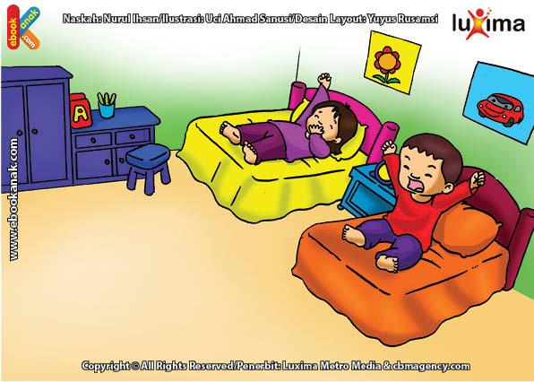 ilustrasi seri belajar islam sejak usia dini ayo belajar hadits, Kenapa Kita Harus Menutup Mulut Jika Menguap