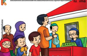 ilustrasi seri belajar islam sejak usia dini ayo belajar hadits, Membayar Zakat Fitrah Penyempurna Pahala Puasa Ramadhan