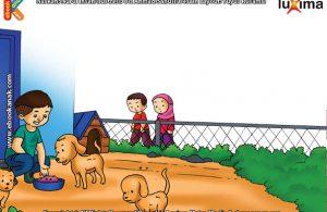 ilustrasi seri belajar islam sejak usia dini ayo belajar hadits, Memelihara Anjing di Rumah Bisa Mengurangi Pahala Setara 2 Gunung Uhud Tiap Hari