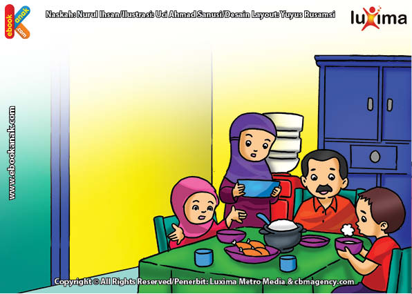 ilustrasi seri belajar islam sejak usia dini ayo belajar hadits, Nabi Melarang Meniup-niup Makanan dan Minuman yang Masih Panas