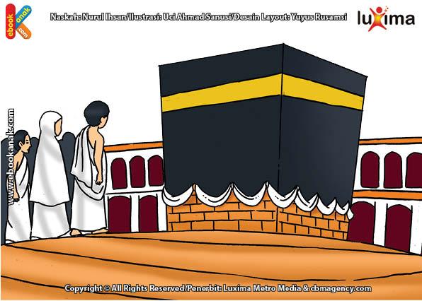 ilustrasi seri belajar islam sejak usia dini ayo belajar manasik haji, Apa Hukumnya Jika Jamaah Haji Thawaf Kurang dari 7 Kali Putaran