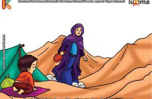 ilustrasi seri belajar islam sejak usia dini ayo belajar manasik haji, Apakah Ibadah Sai Meniru Bunda Hajar Saat Mencari Air untuk Nabi Ismail