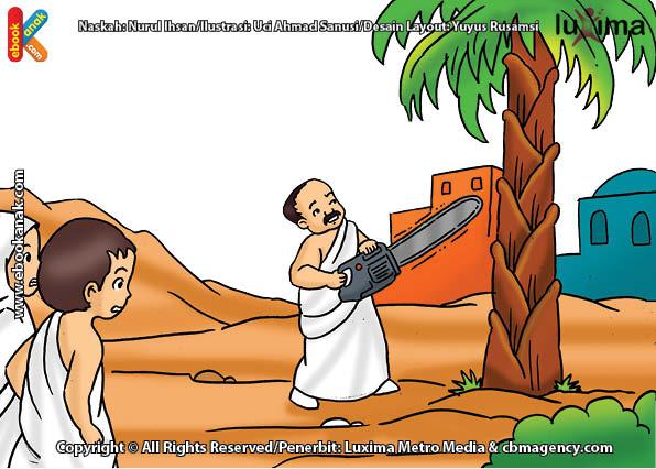 ilustrasi seri belajar islam sejak usia dini ayo belajar manasik haji, Apakah Jamaah Haji Dilarang Menebang Pohon Ketika Ibadah Ihram