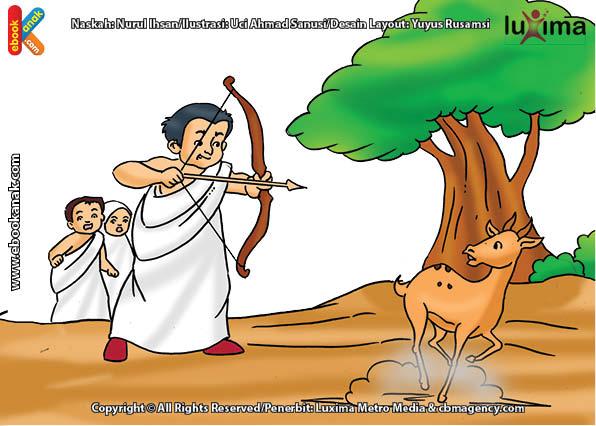 ilustrasi seri belajar islam sejak usia dini ayo belajar manasik haji, Apakah Jamaah Haji Selama Ihram Boleh Berburu Hewan