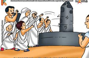 ilustrasi seri belajar islam sejak usia dini ayo belajar manasik haji, Benarkah Jika Jamaah Haji Tidak Melakukan Jumrah Harus Membayar Denda