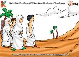 ilustrasi seri belajar islam sejak usia dini ayo belajar manasik haji, Berapa Putaran Jamaah Haji Melakukan Ibadah Sai