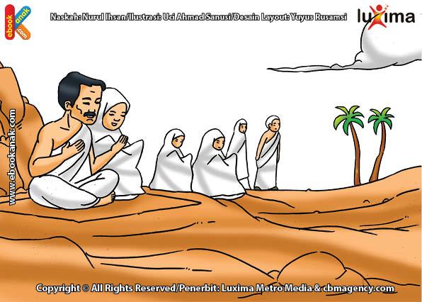 ilustrasi seri belajar islam sejak usia dini ayo belajar manasik haji, Ibadah Apa Saja yang Dilakukan Jamaah Haji Selama Wukuf di Arafah
