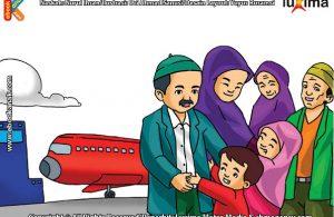 ilustrasi seri belajar islam sejak usia dini ayo belajar manasik haji, Inilah Kebahagiaan Bisa Berkumpul Kembali Setelah Melaksanakan Ibadah Haji