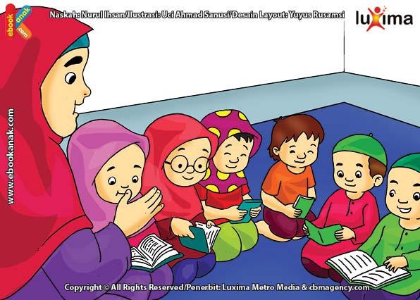 ilustrasi seri belajar islam sejak usia dini ayo belajar mengaji, Belajar Membaca Al Quran Sejak Anak-Anak Menjadi Lebih Mudah