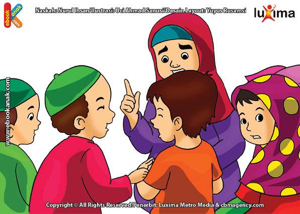 ilustrasi seri belajar islam sejak usia dini ayo belajar mengaji, Belajar Mengaji dengan Tertib dan Sungguh-Sungguh