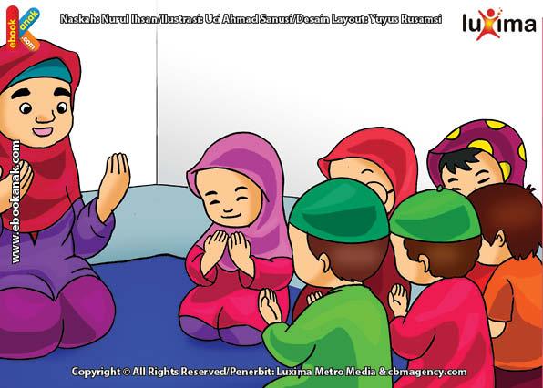 ilustrasi seri belajar islam sejak usia dini ayo belajar mengaji, Berdoa Sebelum Mengaji agar Mendapat Kemudahan