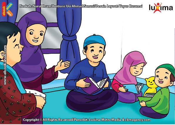 26+ Gambar Kartun Anak Mengaji Al Quran - Gani Gambar
