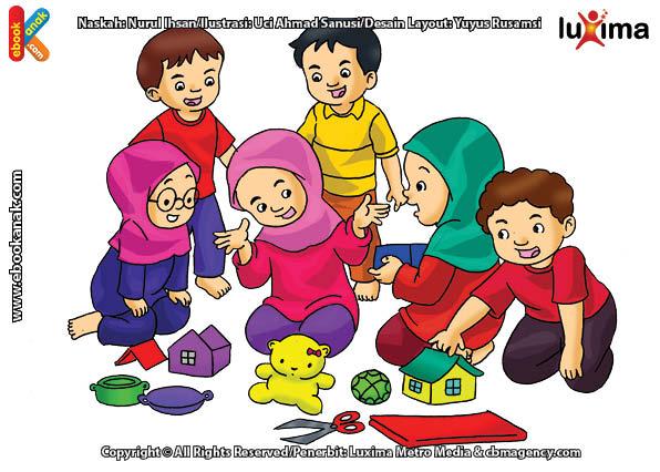 Hasan Dan Hasanah Sedang Bermain Rumah-rumahan