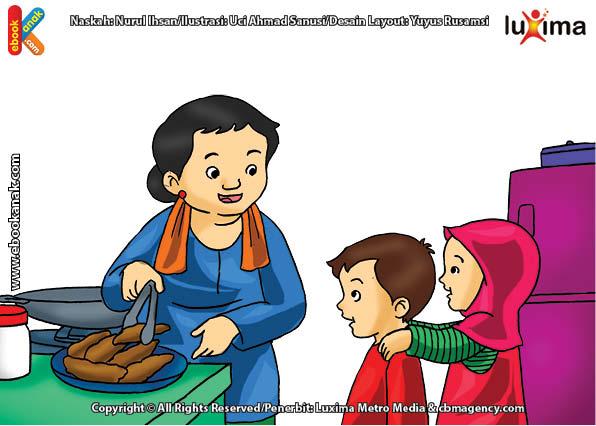 ilustrasi seri belajar islam sejak usia dini ayo belajar mengaji, Kenapa Bi Ijah Harus Malu