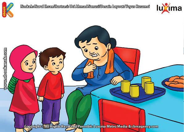 ilustrasi seri belajar islam sejak usia dini ayo belajar mengaji, Ketika Kecil Bi Ijah Malas Belajar dan Mengaji Al Quran