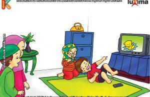 76 Gambar Kartun Anak Sedang Menonton Tv Terbaik