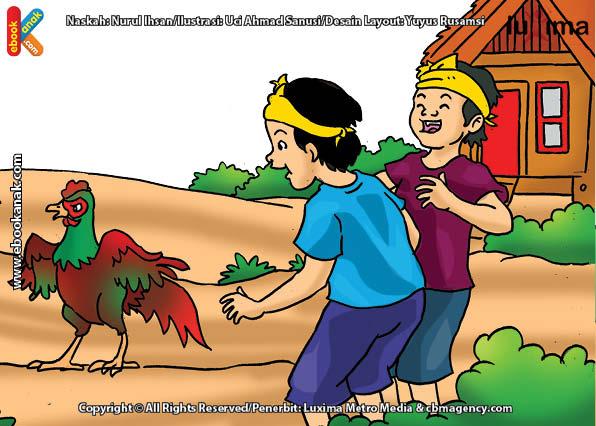 ilustrasi seri mengenal islam sejak usia dini mengenal hukum allah, Bagaimana Hukum Mengadu Ayam