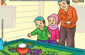 ilustrasi seri mengenal islam sejak usia dini mengenal hukum allah, Kenapa Makan Petai Hukumnya Makruh