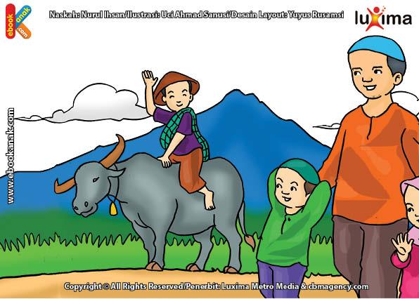 ilustrasi seri mengenal islam sejak usia dini mengenal hukum allah, Kenapa Menyabung Ayam Itu Diharamkan