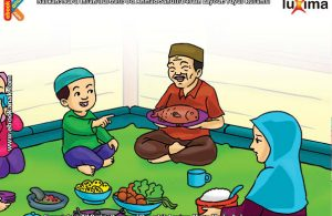 ilustrasi seri mengenal islam sejak usia dini mengenal hukum allah, Makan Ikan Hukumnya Mubah