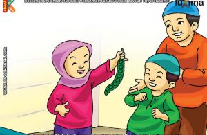 ilustrasi seri mengenal islam sejak usia dini mengenal hukum allah, Makan Petai itu Enak, Tapi Hukumnya Makruh