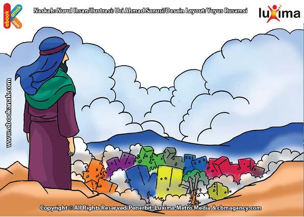 ilustrasi seri mengenal islam sejak usia dini mengenal nabi dan rasul, Azab Apa yang Allah Timpakan pada Kaum Nabi Luth