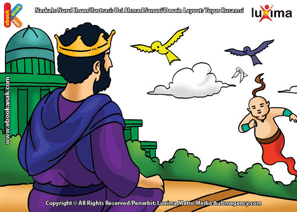 ilustrasi seri mengenal islam sejak usia dini mengenal nabi dan rasul, Gunung dan Angin Menjadi Tenang Ikut Zikir Bersama Nabi Daud