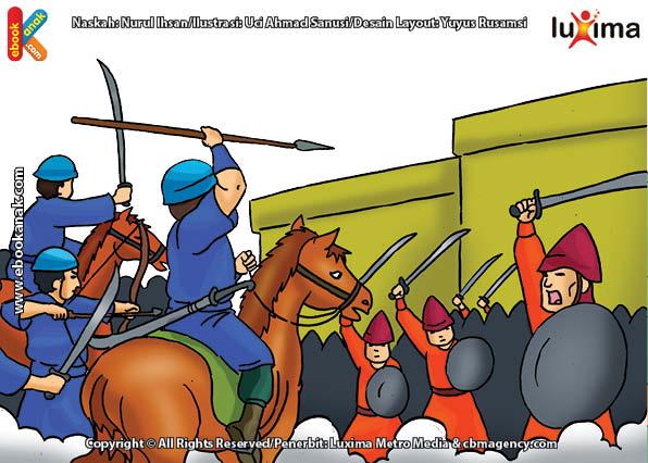 ilustrasi seri mengenal islam sejak usia dini mengenal nabi dan rasul, Kenapa Nabi Yaqub Memerangi Raja Saljam