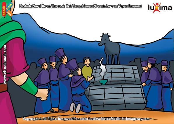 ilustrasi seri mengenal islam sejak usia dini mengenal nabi dan rasul, Mengapa Nabi Harun Murka pada Samiri