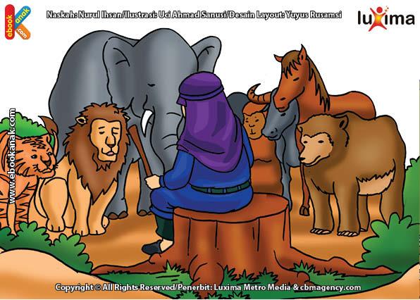 ilustrasi seri mengenal islam sejak usia dini mengenal nabi dan rasul, Siapa Nabi yang Jadi Pemimpin Kaum Manusia, Jin, Hewan, dan Angin