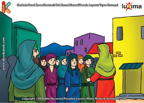 ilustrasi seri mengenal islam sejak usia dini mengenal nabi dan rasul, Ternyata Nabi Ishaq Banyak Menurunkan Para Nabi dan Rasul