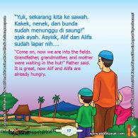 seri belajar islam sejak usia dini Mengenal Hukum Allah, Ayah Mengajak Alif dan Alifa ke Sawah