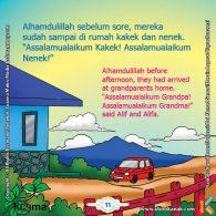 seri belajar islam sejak usia dini Mengenal Hukum Allah, Keluarga Alif Sampai di Rumah Kakek Nenek
