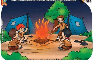 ilustrasi rahasia keajaiban api, Apa Manfaat Api Unggun Bagi Anak Pramuka