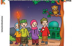 ilustrasi rahasia keajaiban api, Bagaimana Cara Anak di Desa Membuat Penerangan di Malam Hari