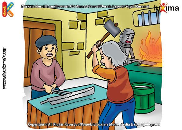 ilustrasi rahasia keajaiban api, Bagaimana Cara Pandai Besi Melunakkan Besi