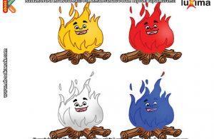 ilustrasi rahasia keajaiban api, Ternyata Nyala Api Bisa Berwarna-warni
