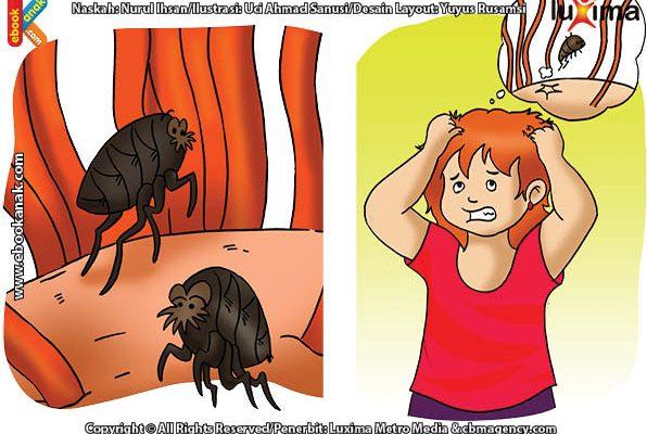 ilustrasi rahasia keajaiban makhluk hidup, Ternyata Kutu Rambut di Kepala Bisa Bertelur Enam Butir Sehari!