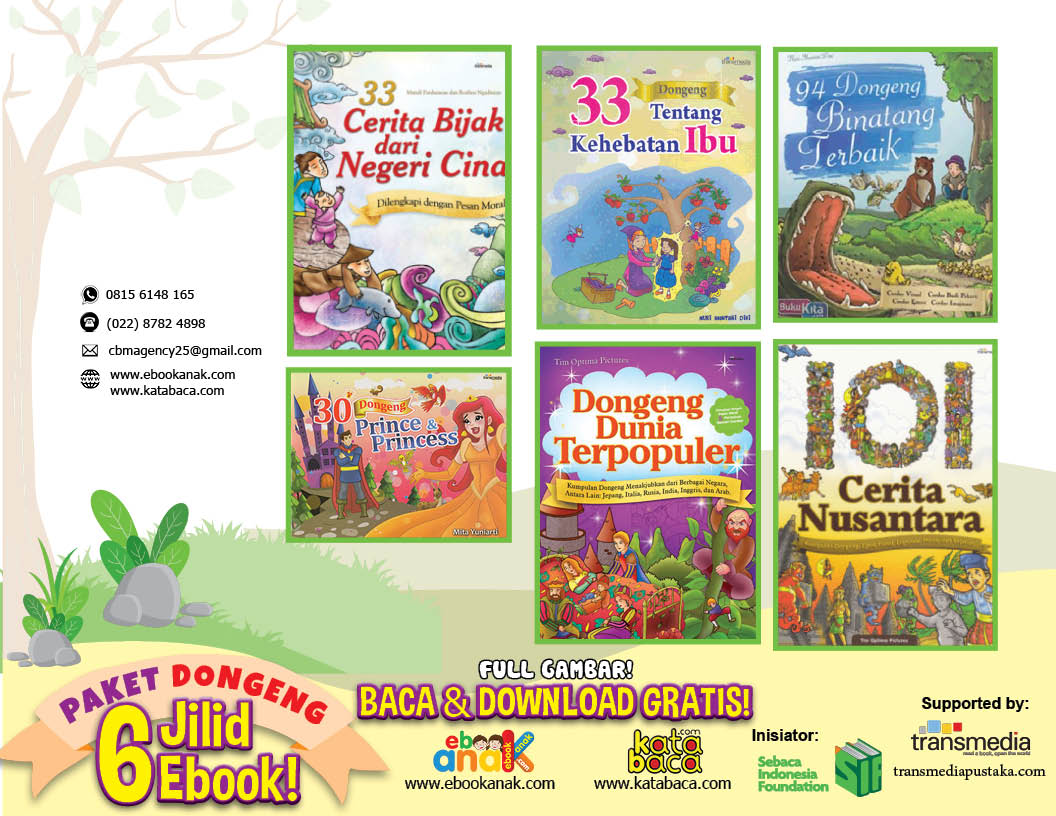 baca dan download ebook gratis paket 6 judul buku dongeng anak