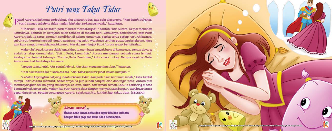 baca dan download gratis ebook 30 dongeng prince dan princess, putri yang takut tidur