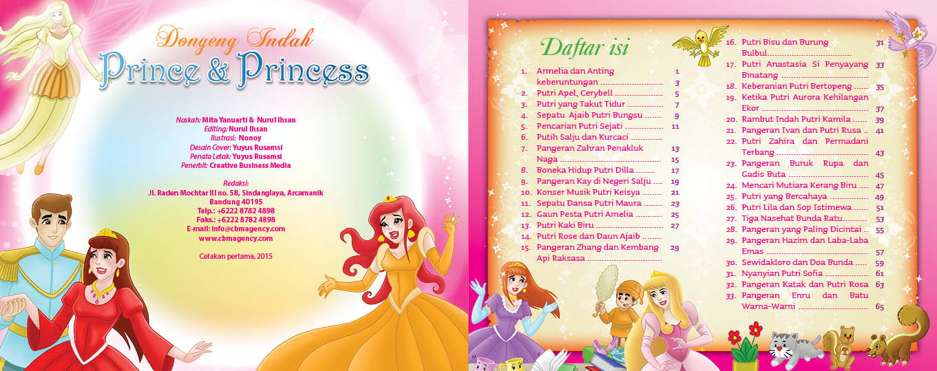 baca dan download gratis ebook 30 dongeng prince dan princess daftar isi