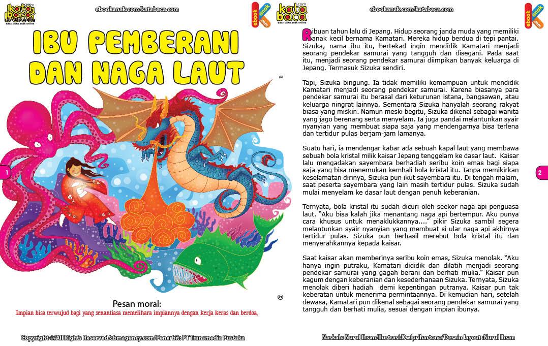 baca dan download gratis ebook 33 Dongeng Cinta Kasih Ibu, ibu pemberani dan naga laut